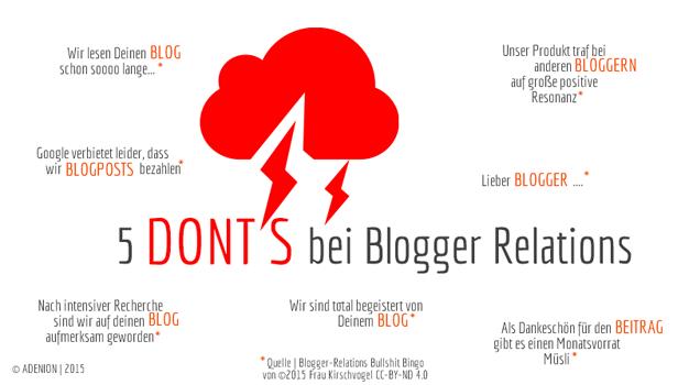 Die häufigsten Fehler bei Blogger Relations