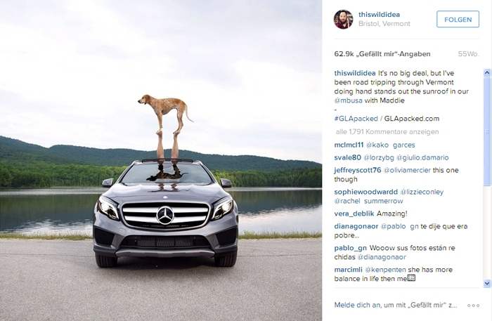 Influencer Marketing Beispiel: Mercedes GLA und thiswildidea