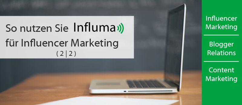 Influma. Suchmaschine für Influencer Marketing und Blogger Relations