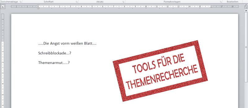 Tools für die Themenrecherche - Die Suchmaschine Influma